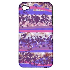 Abstract Pastel Pink Blue Apple Iphone 4/4s Hardshell Case (pc+silicone) by snowwhitegirl