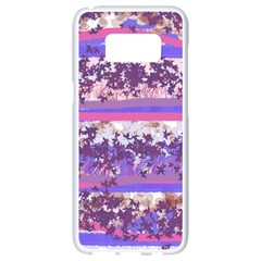 Abstract Pastel Pink Blue Samsung Galaxy S8 White Seamless Case by snowwhitegirl