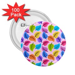 Colorful Leaves 2 25  Buttons (100 Pack)  by snowwhitegirl