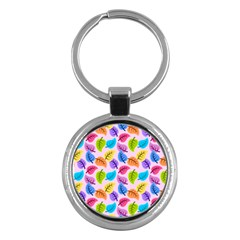Colorful Leaves Key Chains (round)  by snowwhitegirl
