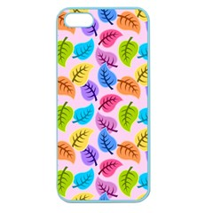 Colorful Leaves Apple Seamless Iphone 5 Case (color) by snowwhitegirl