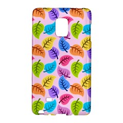 Colorful Leaves Samsung Galaxy Note Edge Hardshell Case by snowwhitegirl