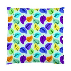 Colorful Leaves Blue Standard Cushion Case (two Sides) by snowwhitegirl