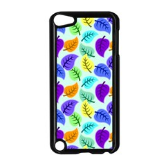 Colorful Leaves Blue Apple Ipod Touch 5 Case (black) by snowwhitegirl