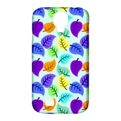Colorful Leaves Blue Samsung Galaxy S4 Classic Hardshell Case (pc+silicone) by snowwhitegirl