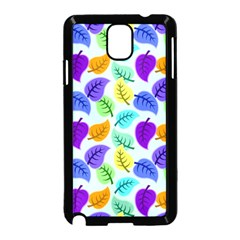 Colorful Leaves Blue Samsung Galaxy Note 3 Neo Hardshell Case (black) by snowwhitegirl