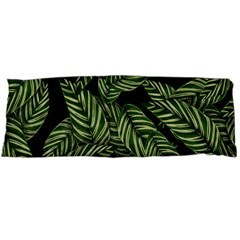 Tropical Leaves On Black Body Pillow Case Dakimakura (two Sides) by snowwhitegirl