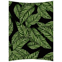 Tropical Leaves On Black Back Support Cushion by snowwhitegirl