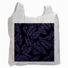 Tropical Leaves Purple Recycle Bag (one Side) by snowwhitegirl