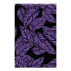 Tropical Leaves Purple Shower Curtain 48  X 72  (small)  by snowwhitegirl