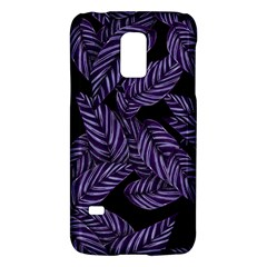 Tropical Leaves Purple Samsung Galaxy S5 Mini Hardshell Case  by snowwhitegirl