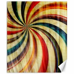 Abstract Rainbow Swirl Canvas 8  X 10  by snowwhitegirl