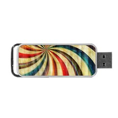 Abstract Rainbow Swirl Portable Usb Flash (one Side) by snowwhitegirl