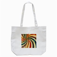 Abstract Rainbow Swirl Tote Bag (white) by snowwhitegirl