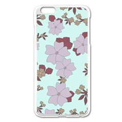 Vintage Floral Lilac Pattern Apple Iphone 6 Plus/6s Plus Enamel White Case by snowwhitegirl