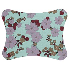 Vintage Floral Lilac Pattern Jigsaw Puzzle Photo Stand (bow) by snowwhitegirl