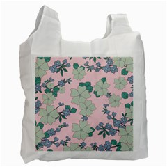 Vintage Floral Lilac Pattern Pink Recycle Bag (one Side) by snowwhitegirl
