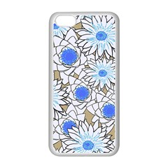 Vintage White Blue Flowers Apple Iphone 5c Seamless Case (white)