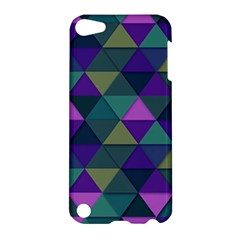 Blue Geometric Apple Ipod Touch 5 Hardshell Case by snowwhitegirl