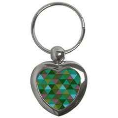 Green Geometric Key Chains (heart)  by snowwhitegirl