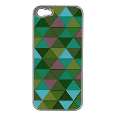 Green Geometric Apple Iphone 5 Case (silver) by snowwhitegirl