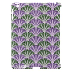 Vintage Scallop Violet Green Pattern Apple Ipad 3/4 Hardshell Case (compatible With Smart Cover) by snowwhitegirl