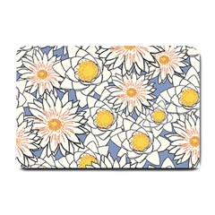 Vintage White Flowers Small Doormat  by snowwhitegirl