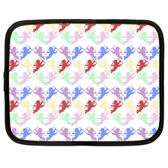 Colorful Cherubs White Netbook Case (large) by snowwhitegirl