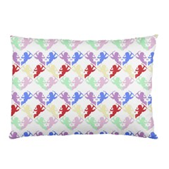 Colorful Cherubs White Pillow Case (two Sides) by snowwhitegirl