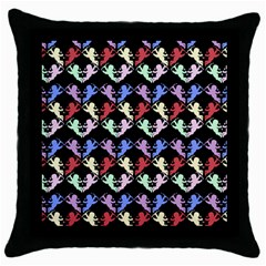 Colorful Cherubs Black Throw Pillow Case (black) by snowwhitegirl