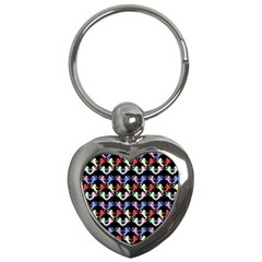 Colorful Cherubs Black Key Chains (heart)  by snowwhitegirl