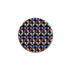 Colorful Cherubs Black Golf Ball Marker (4 Pack) by snowwhitegirl