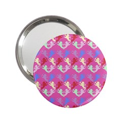 Colorful Cherubs Pink 2 25  Handbag Mirrors by snowwhitegirl
