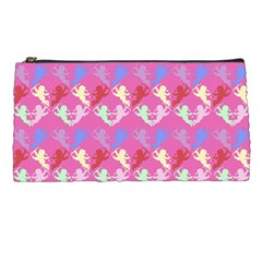 Colorful Cherubs Pink Pencil Cases