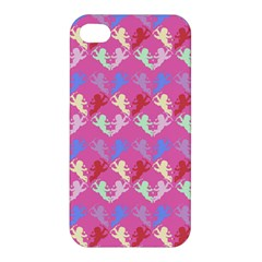 Colorful Cherubs Pink Apple Iphone 4/4s Premium Hardshell Case by snowwhitegirl