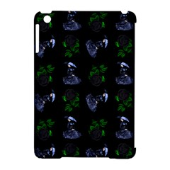 Gothic Girl Rose Black Pattern Apple Ipad Mini Hardshell Case (compatible With Smart Cover)