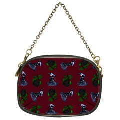 Gothic Girl Rose Red Pattern Chain Purse (two Sides) by snowwhitegirl