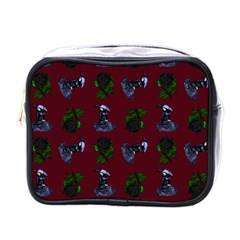 Gothic Girl Rose Red Pattern Mini Toiletries Bag (one Side)