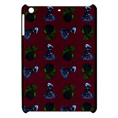 Gothic Girl Rose Red Pattern Apple Ipad Mini Hardshell Case by snowwhitegirl