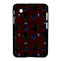 Gothic Girl Rose Red Pattern Samsung Galaxy Tab 2 (7 ) P3100 Hardshell Case