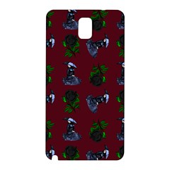 Gothic Girl Rose Red Pattern Samsung Galaxy Note 3 N9005 Hardshell Back Case