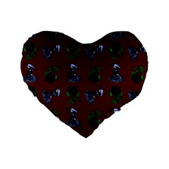 Gothic Girl Rose Red Pattern Standard 16  Premium Flano Heart Shape Cushions by snowwhitegirl