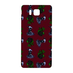Gothic Girl Rose Red Pattern Samsung Galaxy Alpha Hardshell Back Case by snowwhitegirl