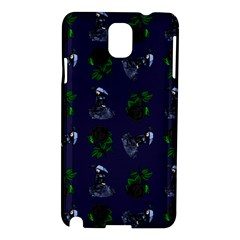 Gothic Girl Rose Blue Pattern Samsung Galaxy Note 3 N9005 Hardshell Case by snowwhitegirl