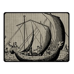 Vintage Ship Fleece Blanket (small) by snowwhitegirl