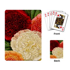Vintage Carnation Flowers Playing Cards Single Design by snowwhitegirl