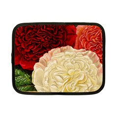 Vintage Carnation Flowers Netbook Case (small) by snowwhitegirl