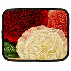 Vintage Carnation Flowers Netbook Case (large) by snowwhitegirl