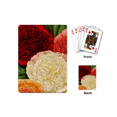 Vintage Carnation Flowers Playing Cards (mini) by snowwhitegirl