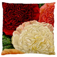 Vintage Carnation Flowers Large Cushion Case (two Sides) by snowwhitegirl